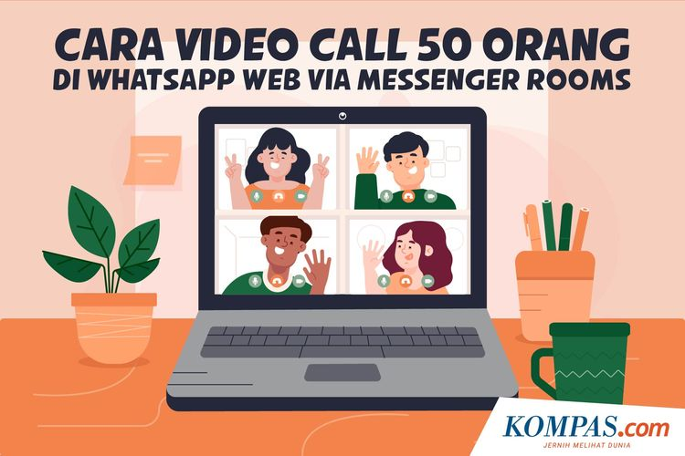 Cara Video Call 50 Orang di WhatsApp Web via Messenger Rooms