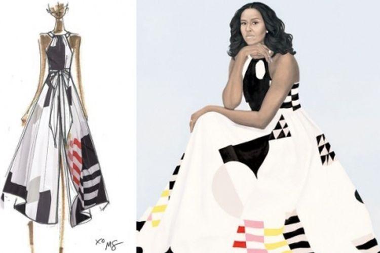 Lukisan Michelle Obama