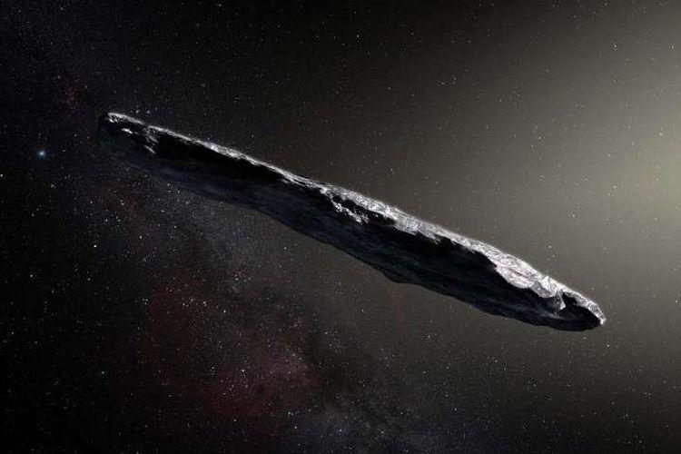 Oumuamua adalah asteroid antarbintang pertama yang mengunjungi Tata Surya. Benda unik ini ditemukan pada 18 Oktober 2017 oleh teleskop Pan-STARRS 1 di Hawai. Observasi selanjutnya dari Teleskop Very Large ESO di Cile dan observatorium lainnya di seluruh dunia menunjukkan bahwa dia melakukan perjalanan melalui ruang angkasa selama jutaan tahun sebelum bertemu dengan Tata Suya kita. Oumuamua merupakan benda metalik atau berbatu merah tua yang panjangnya mencapai 400 meter, dan tidak seperti apa yang biasanya ditemukan di Tata Surya.