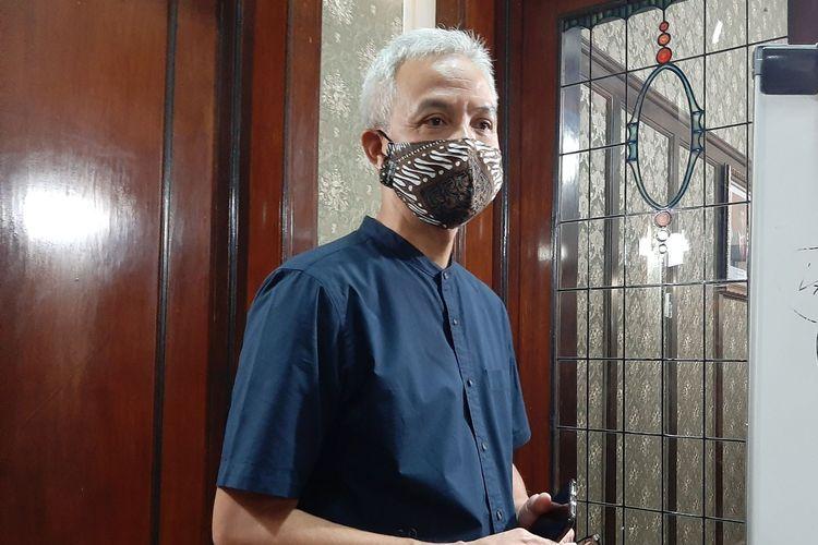 Gubernur Jawa Tengah Ganjar Pranowo saat ditemui di Puri Gedeh, Selasa (7/7/2020)