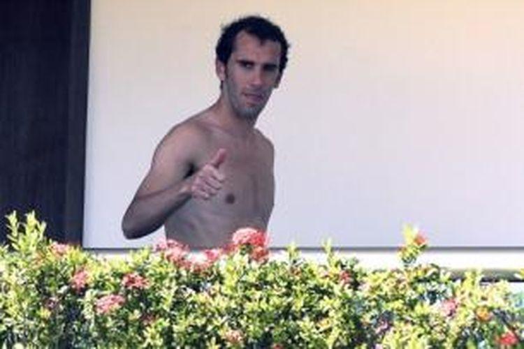 Bek Atletico Madrid asal Uruguay, Diego Godin.