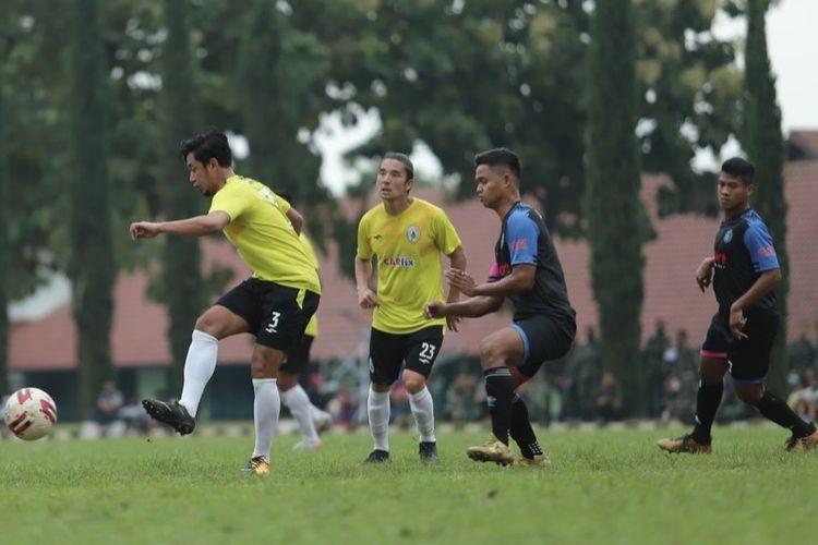 Tim PS Sleman beruji coba di Bandung, Jumat (19/3/2021), dalam mempersiapkan laga-laga di Piala Menpora 2021 mulai Sabtu (21/3/2021).
