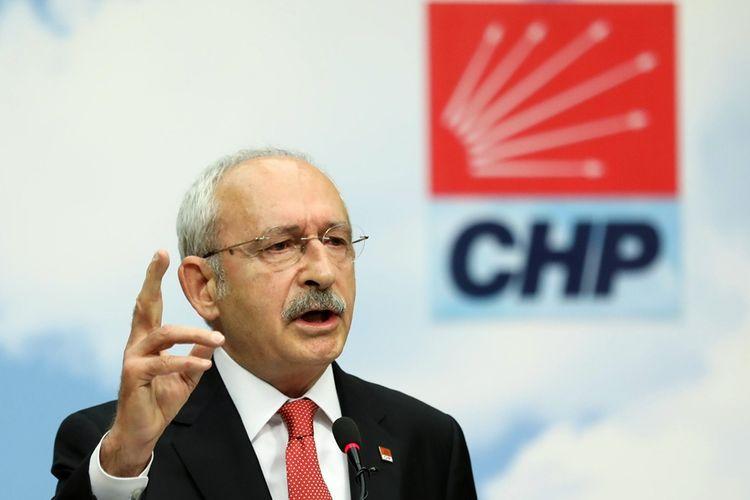 Pemimpin partai oposisi, Partai Rakyat Republik (CHP), Kemal Kilicdaroglu.
