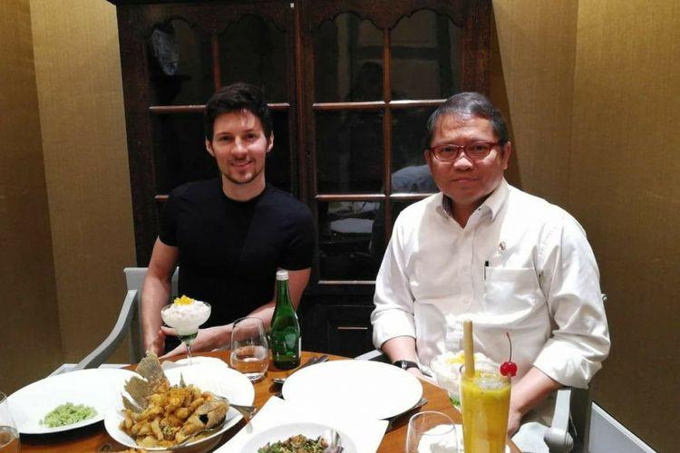 CEO Telegram Pavel Durov bertemu Menkominfo Rudiantara, Selasa (1/8/2017) siang.