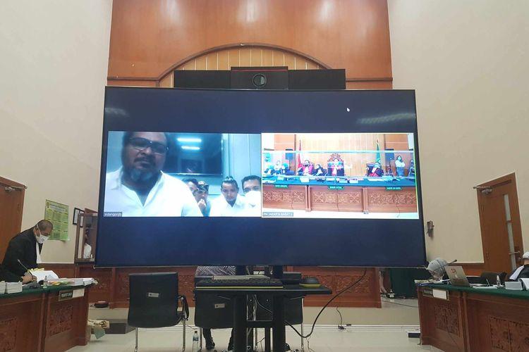 Suasana sidang lanjutan perkara pembunuhan berencana yang menjerat John Kei di Pengadilan Negeri Jakarta Barat, pada Rabu (3/3/2021).