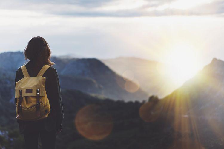 Traveler di gunung