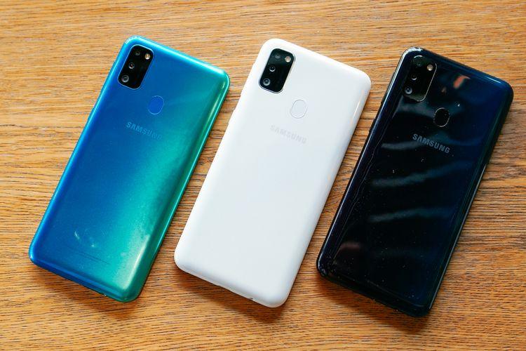 Tiga pilihan warna Samsung Galaxy M30s.