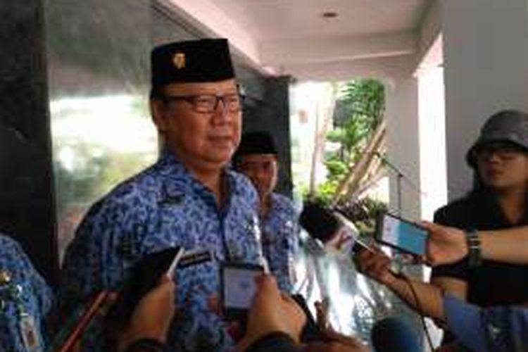 Menteri Dalam Negeri Tjahjo Kumolo usai memimpin upacara Hari Kebangkitan Pancasila di Kemendagri, Jakarta, Senin (3/10/2016)