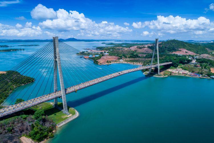 Jembatan Barelang di Batam, tujuan wisata untuk itinerary 1 hari.