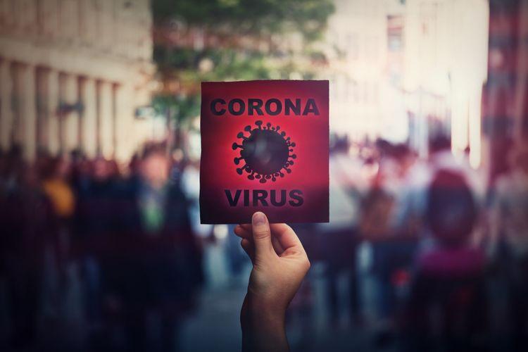 Ilustrasi virus corona (SARS-CoV-2), Covid-19