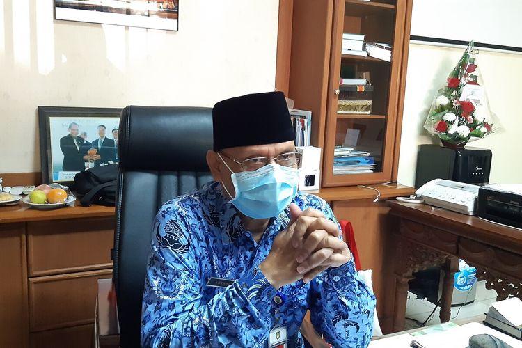 Ketua Pelaksana Satgas Penanganan Covid-19 Solo yang juga menjabat Sekretaris Daerah Solo, Ahyani di Solo, Jawa Tengah, Senin (17/5/2021).