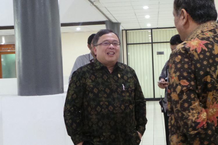 Menteri PPN/Kepala Bappenas Bambang Brodjonegoro, di Universitas Indonesia, Depok, Kamis (5/10/2017).