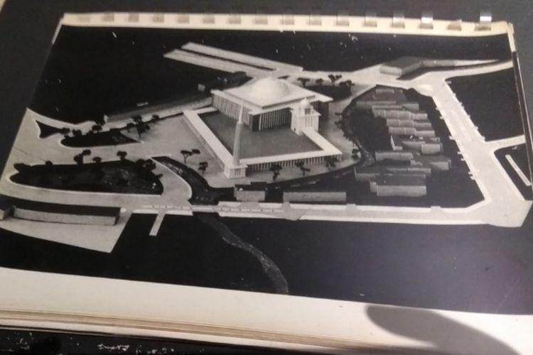 Foto maket Maket masjid Istiqlal yang dibuat oleh arsitek Friedrich Silaban.