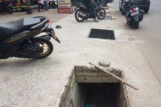 Besi Penutup Saluran Air di Jalan Raya Margonda Dicuri, Trotoar Jadi Berlubang