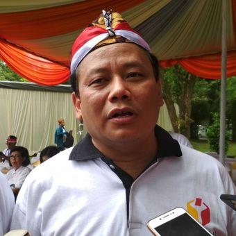 Ketua Bawaslu Abhan Misbah seusai apel Panwaslu se-Jawa Tengah, di Kompleks Taman Wisata Candi Borobudur, Magelang, Rabu (14/2/2018).