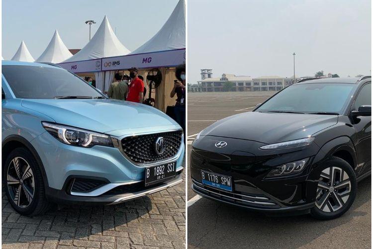 MG ZS EV dan Hyundai Kona EV jadi mobil listrik yang bermain di segmentasi serupa