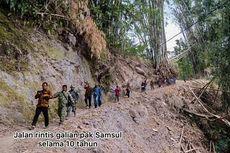 Perjalanan Kakek Samsul Kikis Gunung dengan Linggis, Buka Akses Jalan Rintisan untuk 100 Warga