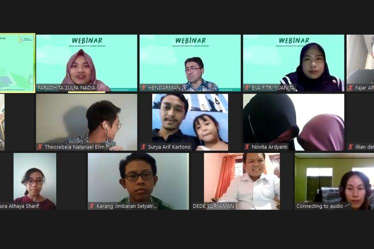 Pengumuman pemenang Lomba Blog dan Vlog pada Webinar Generasi Berkarakter Hindari Narkoba,  Sabtu (26/9/2020).