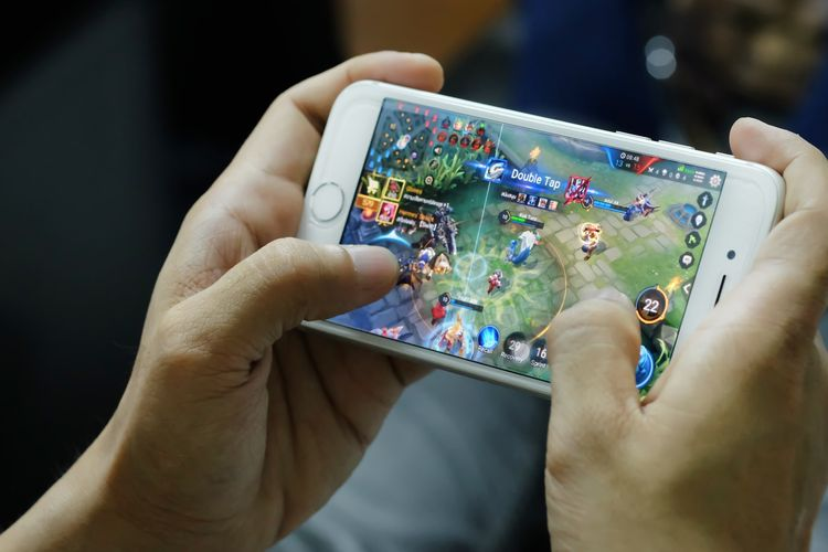 Ilustrasi tampilan game smartphone