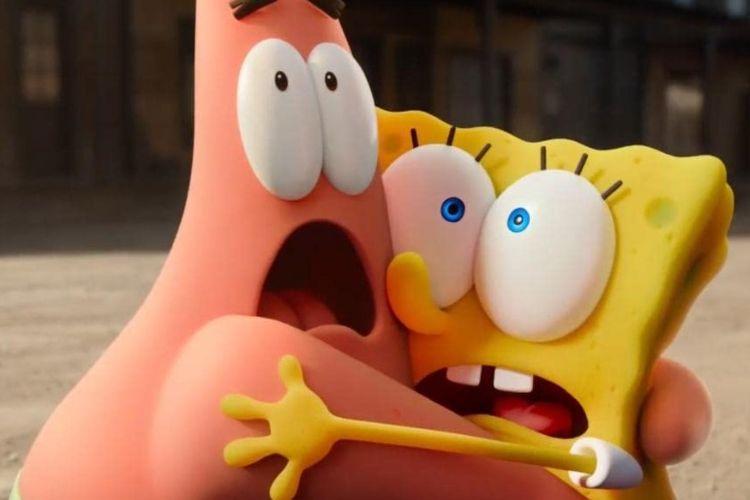 Persahabatan unik dari Spongebob dan Patrick di film The Spongebob Movie: Sponge on the Run.