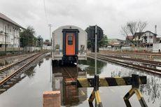 Jalur Rel Kereta Api Semarang Tawang Alastua Masih Terendam Genangan Air