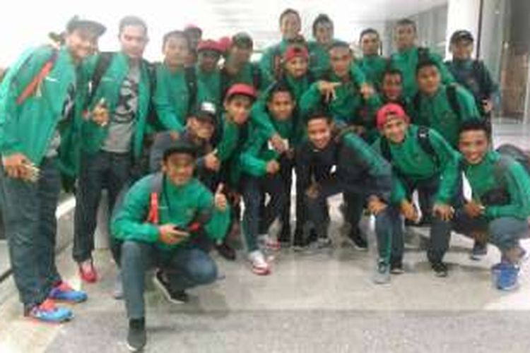 Para pemain tim nasional Indonesia telah tiba di Hanoi, Vietnam pada Minggu (4/12/2016) malam.