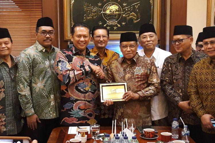 Safari politik Ketua MPR Bambang Soesatyo ke PBNU di Jakarta Pusat, Rabu (27/11/2019).