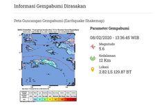 Gempa Magnitudo 5,4 Guncang Seram Bagian Timur, Tak Berpotensi Tsunami