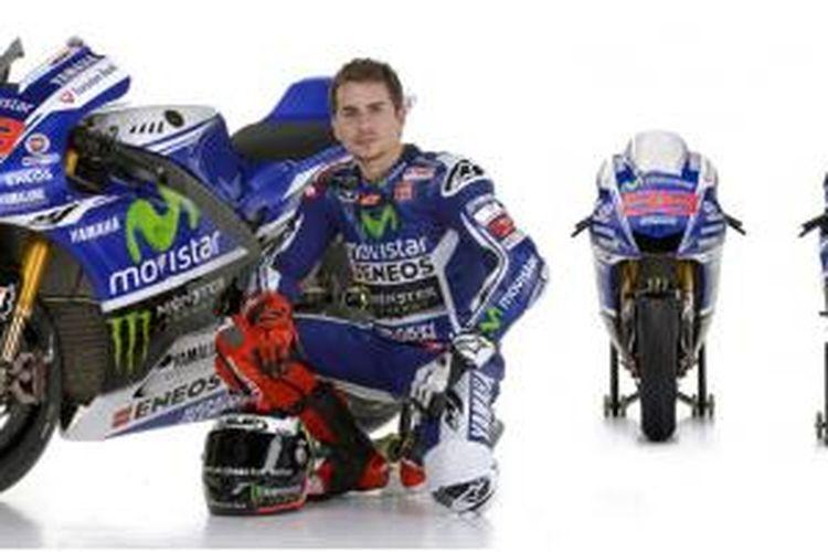 Corak baru Yamaha MotoGP musim 2014 untuk Jorge Lorenzo.