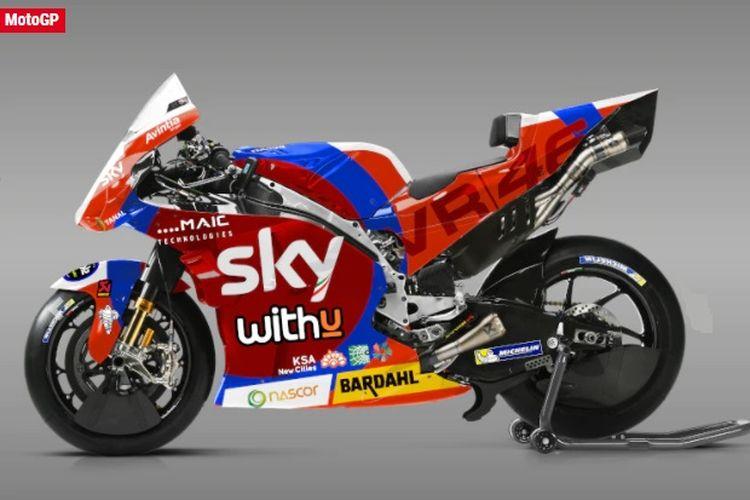 Pebalap Sky VR46 Avintia, Luca Marini, akan memakai motor dengan livery khusus di balapan kandang GP Mugello, Italia, akhir pekan ini Minggu (30/5/2021).