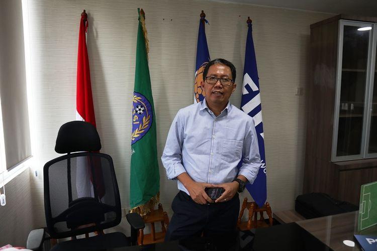 Plt Ketua Umum PSSI, Joko Driyono, menjawab pertanyaan Kompas.com dalam wawancara eksklusif di Kantor PSSI, Jumat (25/1/2019).