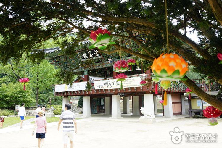 Kuil Woljeongsa di Gangwon, Korea Selatan.