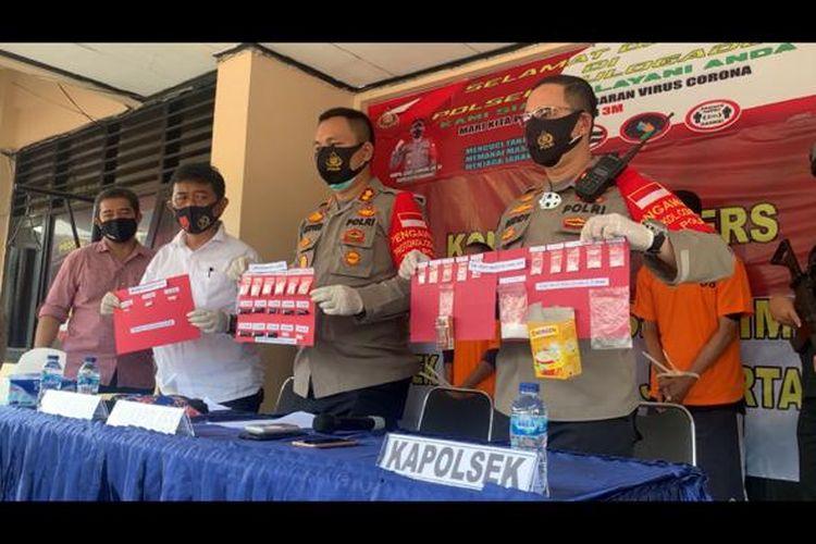 Kapolsek Pulogadung, Kompol Beddy Suwendy dalam jumpa pers di Mapolsek Pulgadung, Jakarta Timur, Senin (28/9/2020)