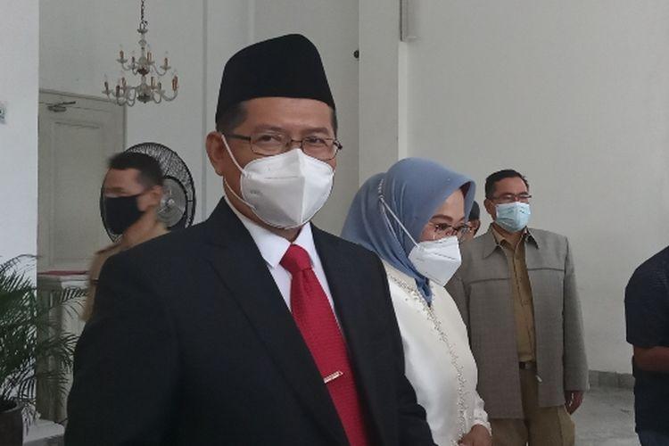 Sekretaris Daerah (Sekda) DKI Jakarta Marullah Matali setelah pelantikan di Balai Kota DKI Jakarta, Senin (18/1/2021).