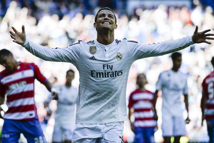 Cristiano Ronaldo saat masih memperkuat Real Madrid.