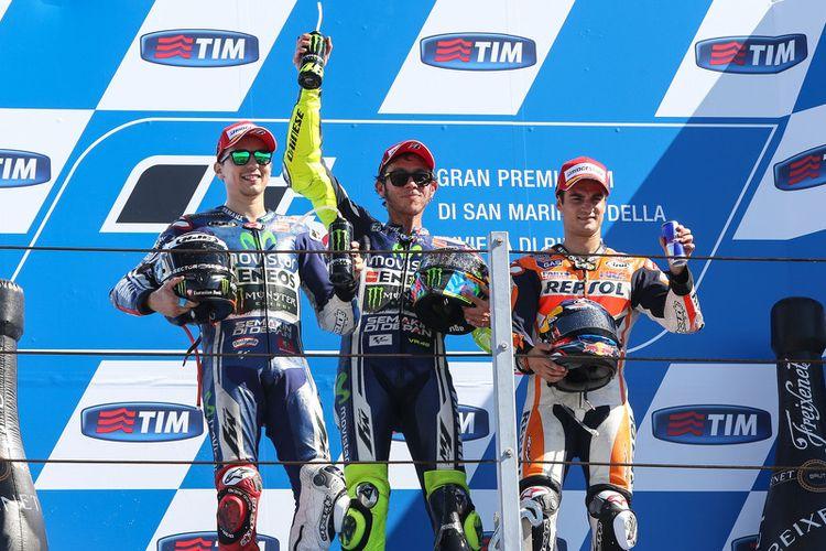 Rossi menang di GP San Marino 2014.