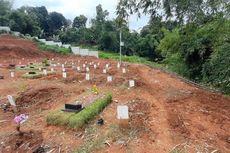 Kawasan Makam Khusus Jenazah Pasien Covid-19 di TPU Jombang Longsor Imbas Hujan Deras