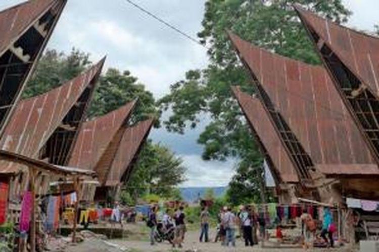 Desa Suhi Suhi di Pulau Samosir, Sumatera Utara.