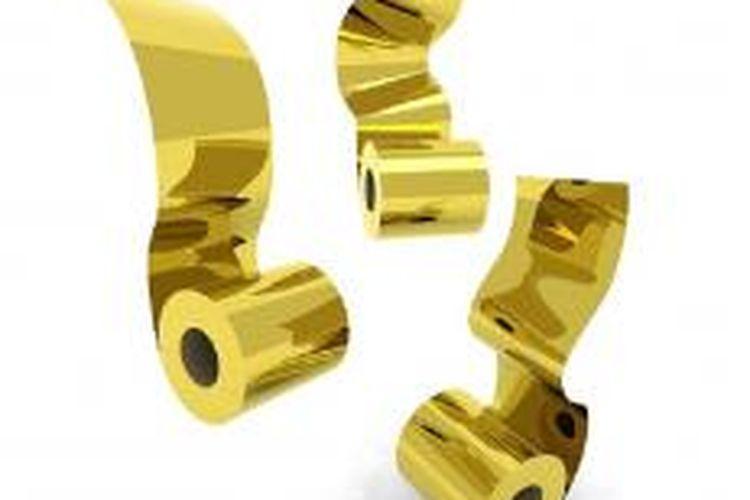 Gulungan tisu yang terbuat dari emas 22 karat.