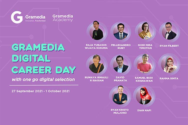 PT. Gramedia Asri Media (Toko Buku Gramedia) menggelar secara virtual Gramedia Digiday yang akan berlangsung selama 5 hari pada 27 September ? 1 Oktober 2021.