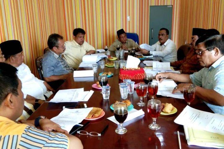 Rapat Tim Pilkada Partai Golkar  di kantor DPD Partai Golkar Sumut, Jumat (17/1/2020) petang