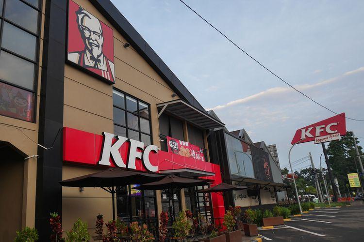 Gerai KFC di Bandung, Jawa Barat.