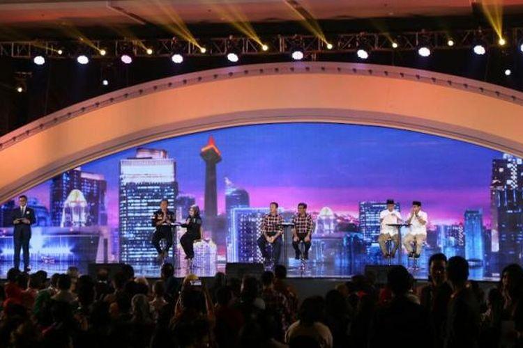 Debat cagub-cawagub DKI, di Hotel Bidakara, Jakarta, Jumat (10/2/2017)