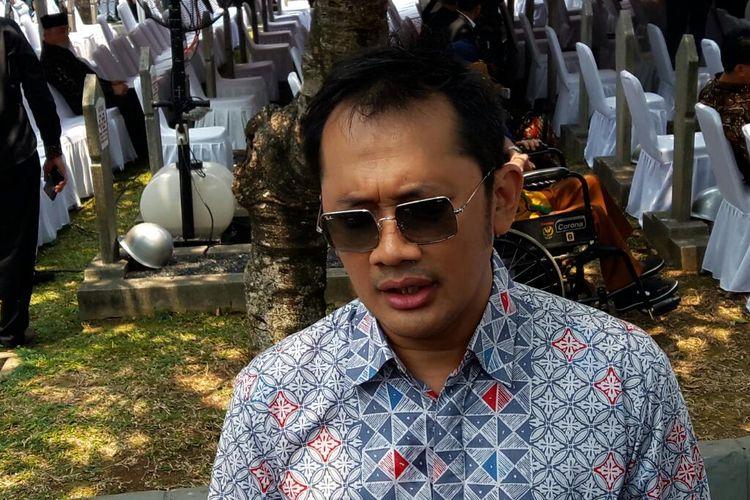 Sutradara Hanung Bramantyo saat ditemui di Taman Makam Pahlawan Kalibata, Jakarta Selatan, Kamis (12/9/2019).