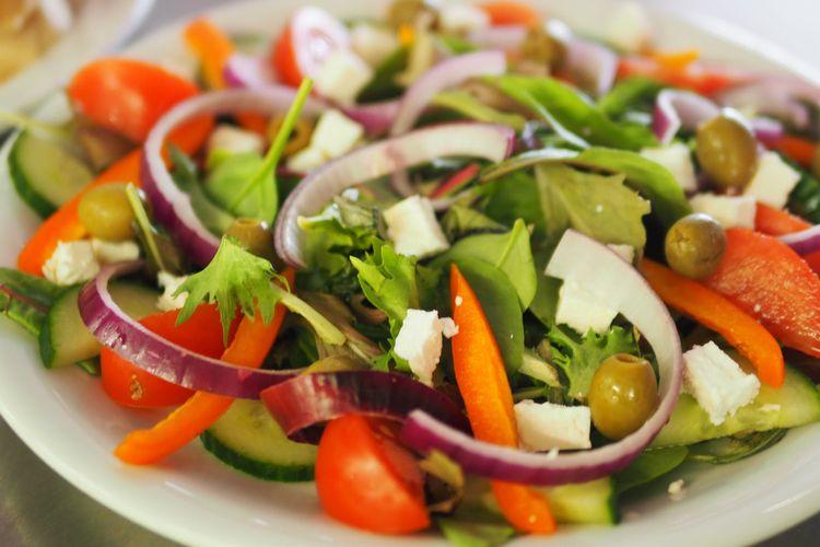 ILUSTRASI Salad sayur ala Jepang.