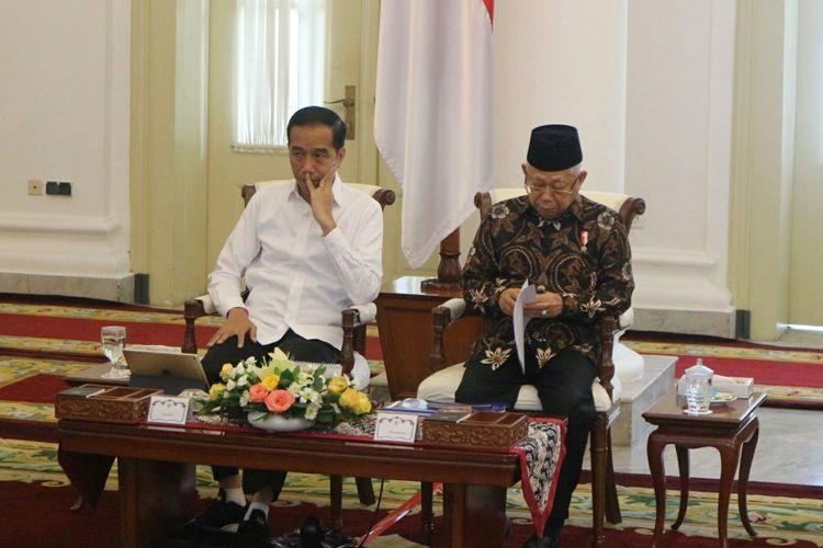 Presiden Joko Widodo saat Sidang Kabinet Paripurna di Istana Kepresidenan Bogor, Selasa (11/2/2020)