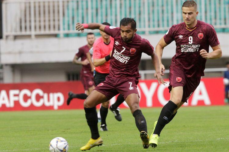Penampilan pemain PSM Makassar, Zulham Zamrun, dalam pertandingan Grup H Piala AFC 2019 melawan Kaya FC di Stadion Pakansari, Cibinong, Selasa (2/4/2019).