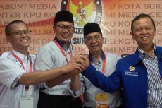 Hujan Iringi Achmad Fahmi-Andri Hamami Daftar ke KPU Kota Sukabumi