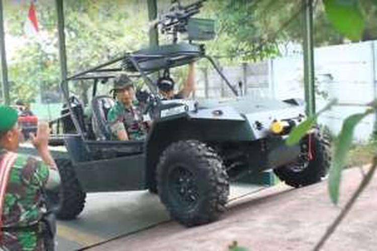 Komodo versi militer yang sedang dalam tahap uji coba Dinas Penelitian dan Pengembangan TNI AD.