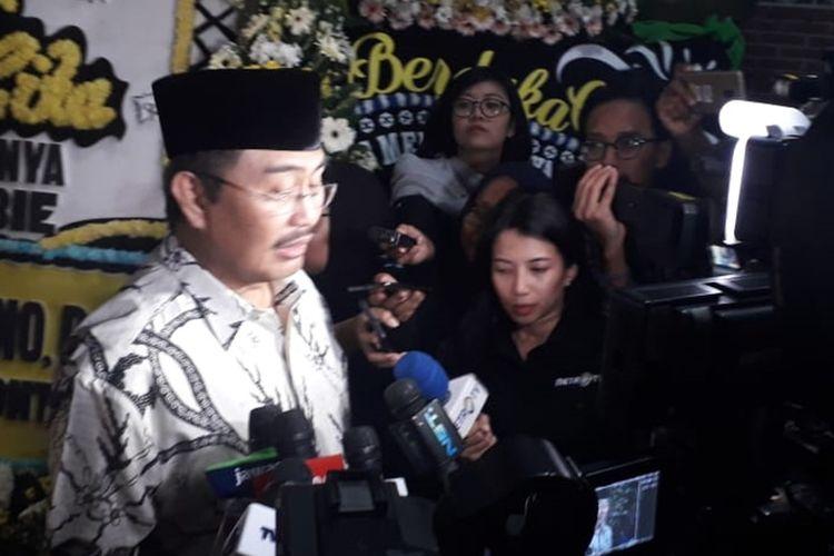 Mantan Ketua Mahkamah Konstitusi Jimly Asshiddiqie di Jalan Patra Kuningan XIII Blok L15/7 No.5, Setiabudi, Jakarta Selatan, Kamis (12/9/2019).